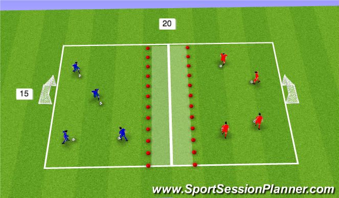 Football/Soccer Session Plan Drill (Colour): RWTB Technical practice