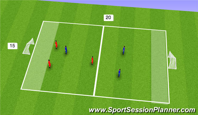 Football/Soccer Session Plan Drill (Colour): End Games