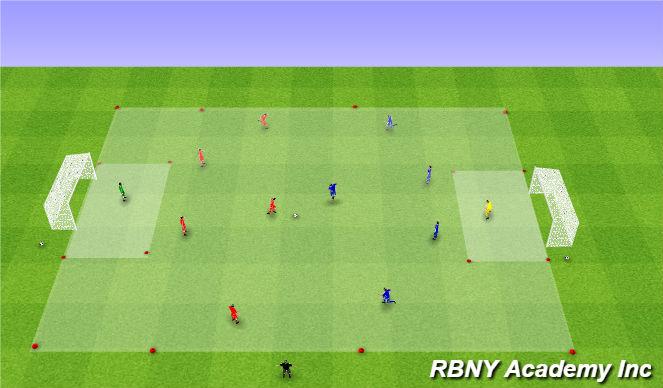 Football/Soccer Session Plan Drill (Colour): Game - 6v6