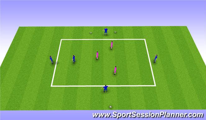 Football/Soccer Session Plan Drill (Colour): 5v3 dutch style