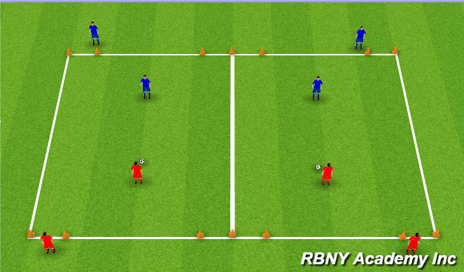 Football/Soccer Session Plan Drill (Colour): Orientation