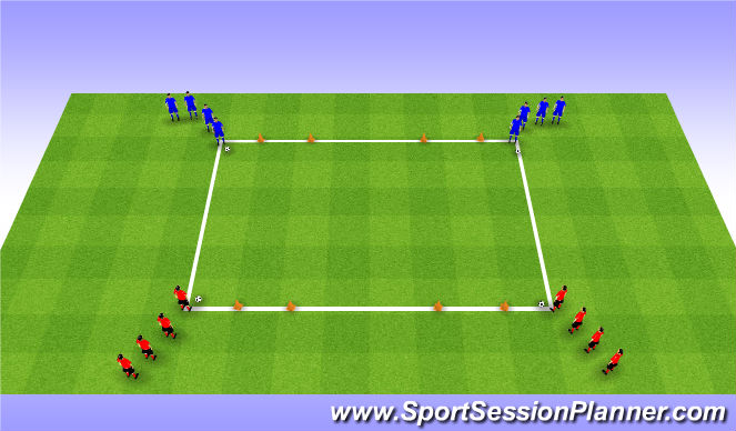 Football/Soccer Session Plan Drill (Colour): Game: 2v2 Flies