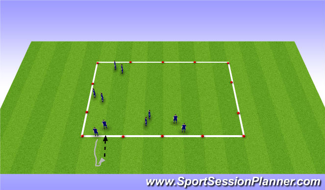 Football/Soccer Session Plan Drill (Colour): Training Box- Cutting
