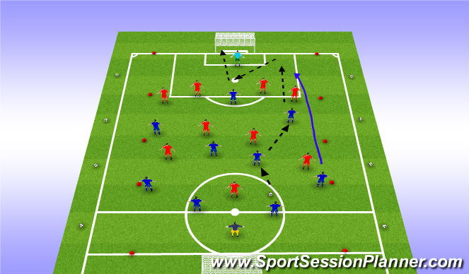 Football/Soccer Session Plan Drill (Colour): SP