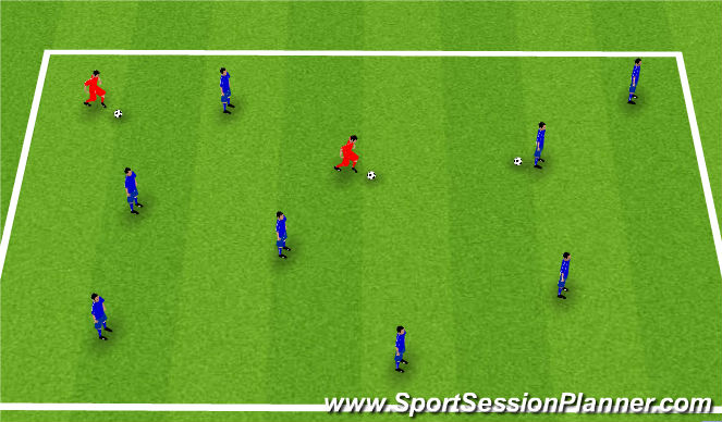 Football/Soccer Session Plan Drill (Colour): Starter Activity