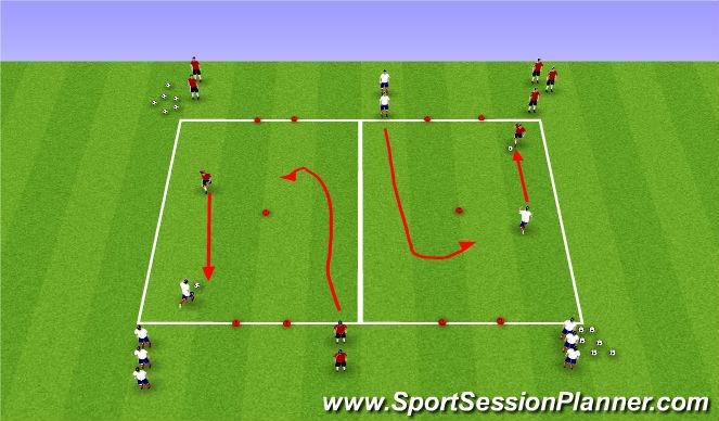 Football/Soccer Session Plan Drill (Colour): Pine Glen June 19th