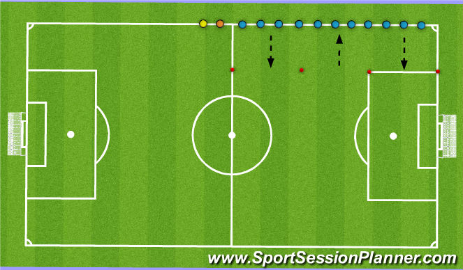 Football/Soccer Session Plan Drill (Colour): Cool-Down