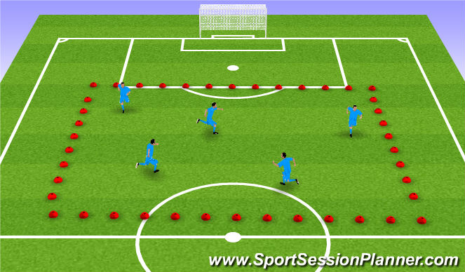 Football/Soccer Session Plan Drill (Colour): Warm up - funny faces