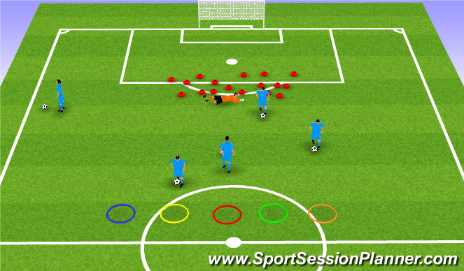 Football/Soccer Session Plan Drill (Colour): Gorilla fruits