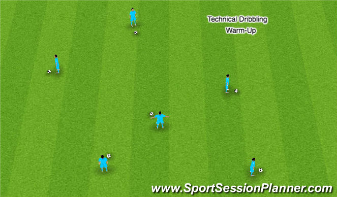 Football/Soccer Session Plan Drill (Colour): Warm Up -Basic groups