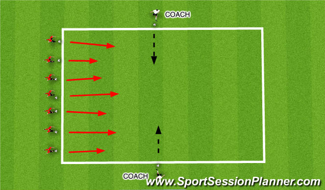 Football/Soccer Session Plan Drill (Colour): Duck Hunt