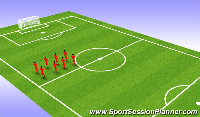 Football/Soccer Session Plan Drill (Colour): Warm up 15 mins