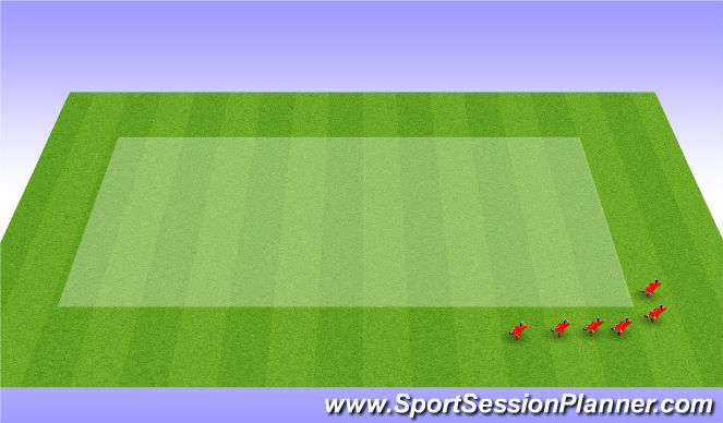 Football/Soccer Session Plan Drill (Colour): 12 Minute run
