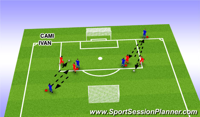 Football/Soccer Session Plan Drill (Colour): Holding up Ball
