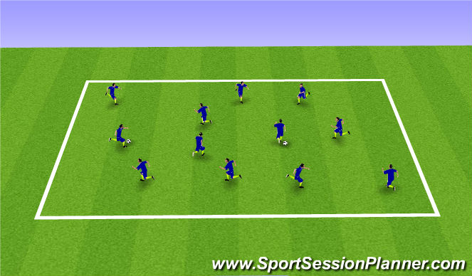 Football/Soccer Session Plan Drill (Colour): Movement warmup