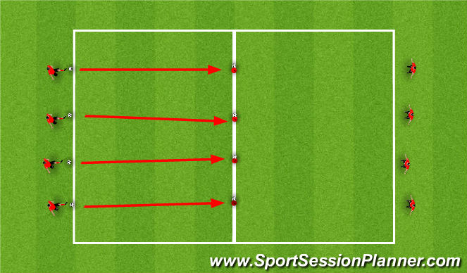 Football/Soccer Session Plan Drill (Colour): Am's Drill