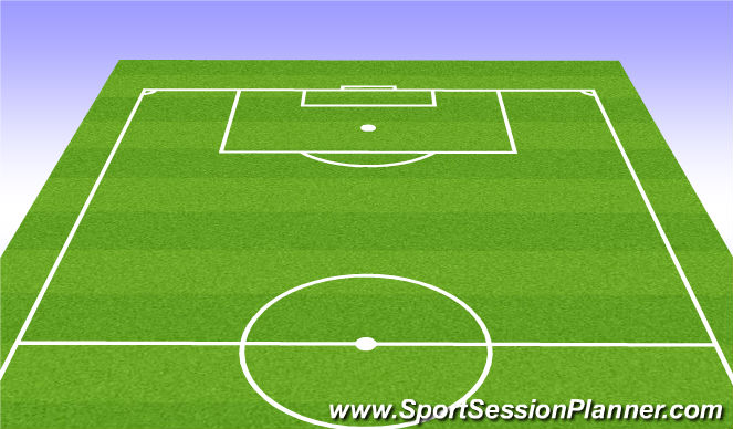 Football/Soccer Session Plan Drill (Colour): Talk & Warmup