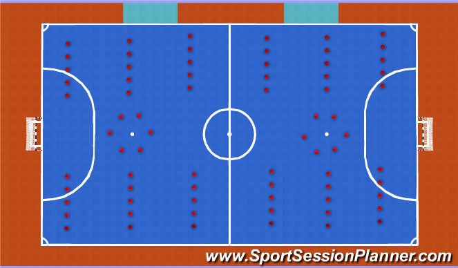 Futsal Session Plan Drill (Colour): Set Up