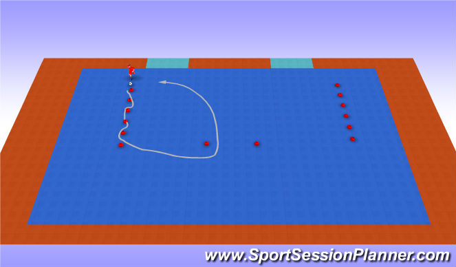 Futsal Session Plan Drill (Colour): Technical Work
