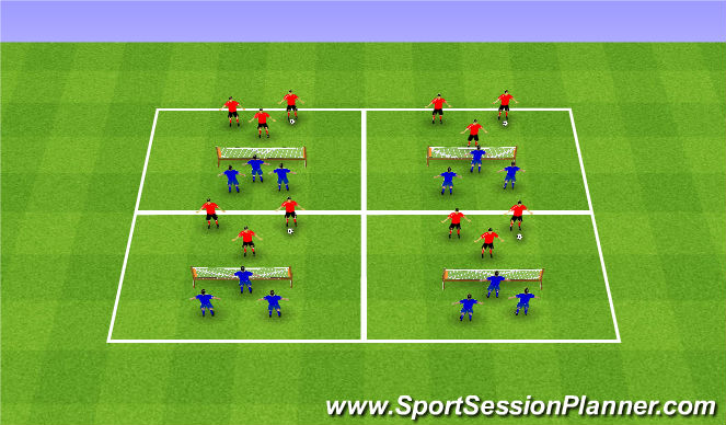 Football/Soccer Session Plan Drill (Colour): Individual: Soccer Tennis