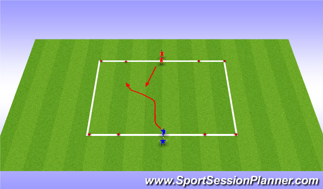 Football/Soccer Session Plan Drill (Colour): Two Gates