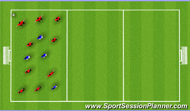 Football/Soccer Session Plan Drill (Colour): Rondo square