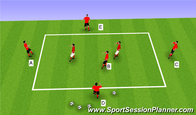 Football/Soccer Session Plan Drill (Colour): Possession zone