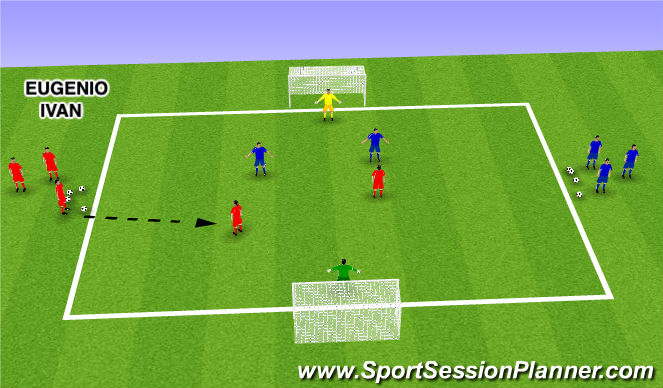 Football/Soccer Session Plan Drill (Colour): Battle in the Box