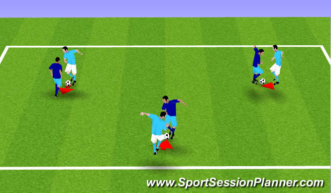 Football/Soccer Session Plan Drill (Colour): Handshake Passing