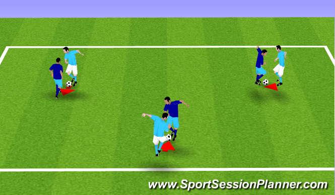 Football/Soccer Session Plan Drill (Colour): Handshake Passing