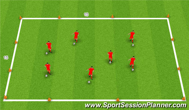 Football/Soccer Session Plan Drill (Colour): General Movement