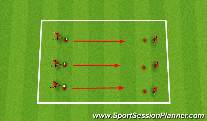 Football/Soccer Session Plan Drill (Colour): Striking the Ball