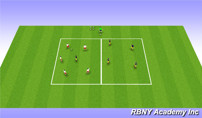 Football/Soccer Session Plan Drill (Colour): WARM UP GAME (15 mins)