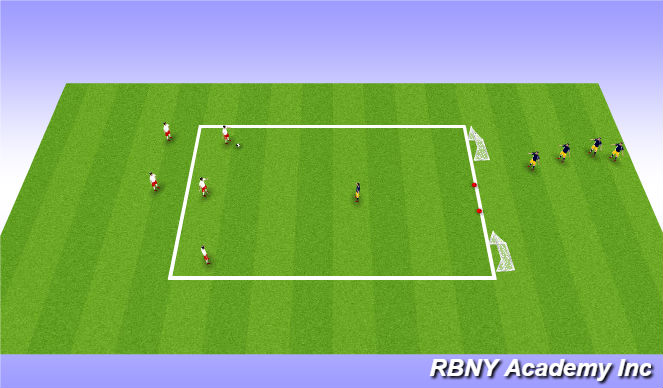 Football/Soccer Session Plan Drill (Colour): MAIN THEME: Penetration vs Possession (30 mins)