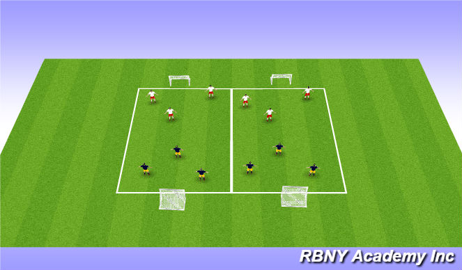 Football/Soccer Session Plan Drill (Colour): SCRIMMAGE (20 mins)