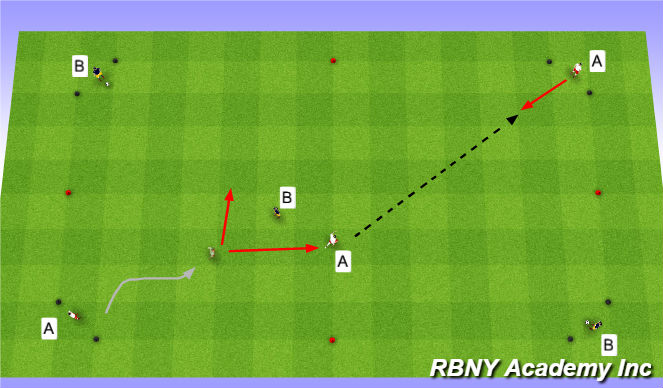 Football/Soccer Session Plan Drill (Colour): Opposed Moves