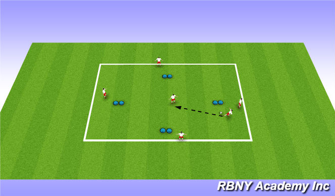 Football/Soccer Session Plan Drill (Colour): Single Diamond Passing (Disguise)