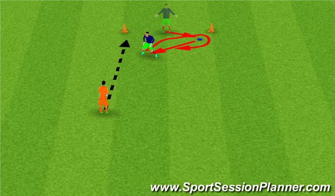 Football/Soccer Session Plan Drill (Colour): Move