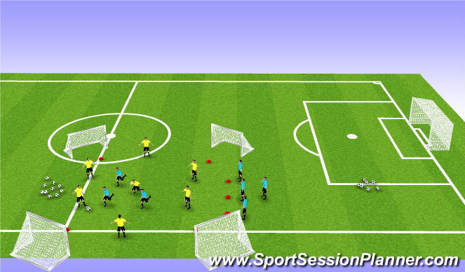 Football/Soccer Session Plan Drill (Colour): 7 v 3