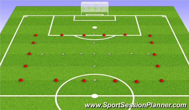 Football/Soccer Session Plan Drill (Colour): Passing Distances
