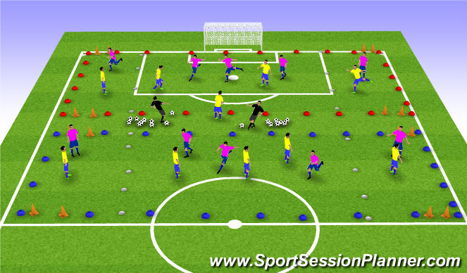 Football/Soccer Session Plan Drill (Colour): Wide Areas Game