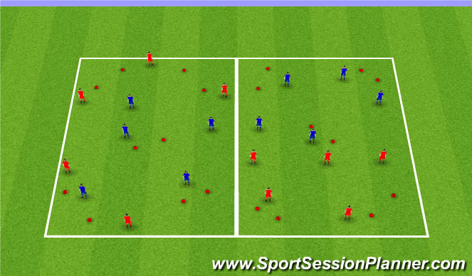 Football/Soccer Session Plan Drill (Colour): Skill.