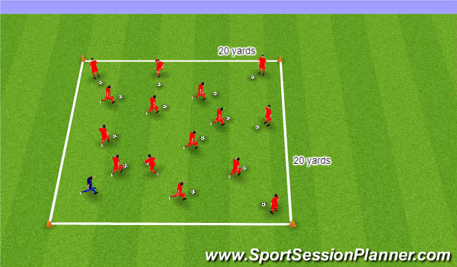 Football/Soccer Session Plan Drill (Colour): Blob Pirates