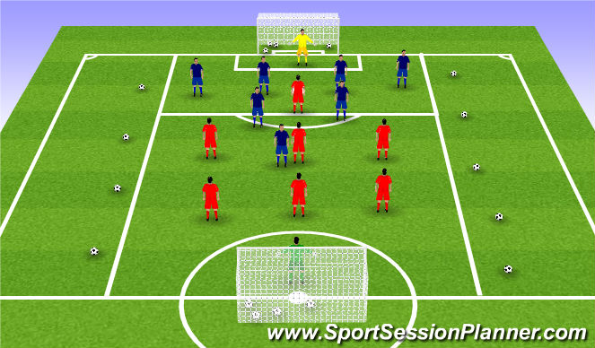 Football/Soccer Session Plan Drill (Colour): Final SSG