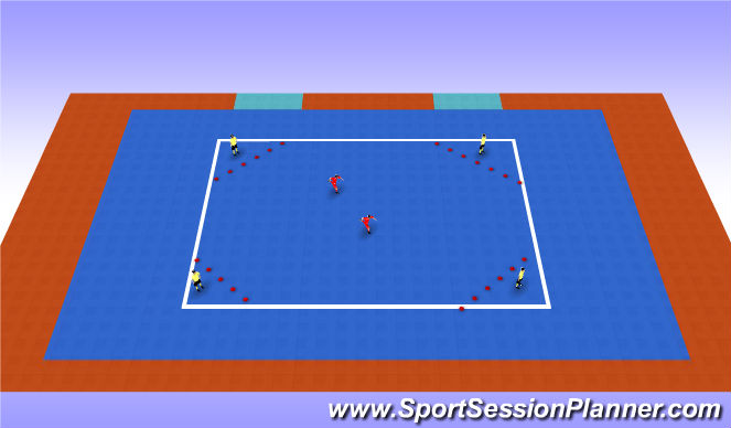 Futsal Session Plan Drill (Colour): Warn Up