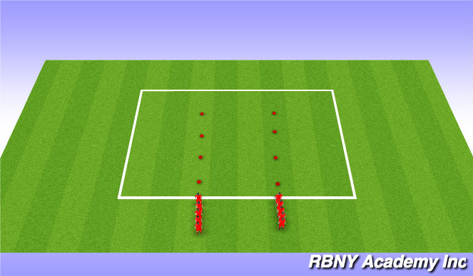Football/Soccer Session Plan Drill (Colour): Warmup/SAQ