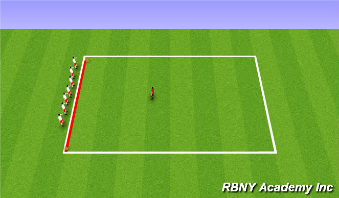 Football/Soccer Session Plan Drill (Colour): Fun Game/Introduction
