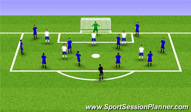 Football/Soccer Session Plan Drill (Colour): Box Game