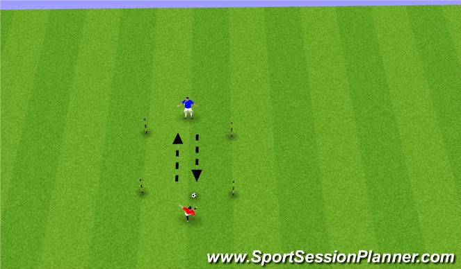 Football/Soccer Session Plan Drill (Colour): 1 & 2 touch passing