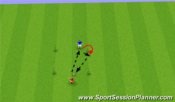 Football/Soccer Session Plan Drill (Colour): Nudge